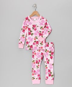 Take a look at this Pink Floral Pajama Set - Infant, Toddler & Girls by Everyday Nay on #zulily today!