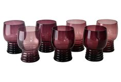 Hunters Alley Pop-Up Shop - Purple Cocktail Glasses, S/7 #huntersalley