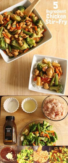 5 Ingredient Chicken Stir-Fry - Perfect for busy families! All items available at Walmart.