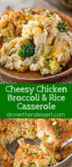 Cheesy Chicken Broccoli Rice Casserole with no canned products is the perfect one pan meal with a creamy sauce and crispy topping your whole family will enjoy. HolidayswithMinute AD @minutericeUS