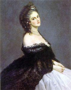 La comtesse de Castiglione par Gordigiani 1862