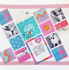 #papercraft #scrapbook #layout. This Is Life Layout by Danielle Flanders for Papertrey Ink (August 2014)