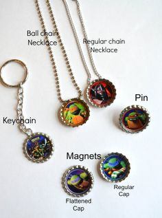 Teenage Mutant Ninja Turtles  Necklace with Chain  / by SpearCraft, $3.00