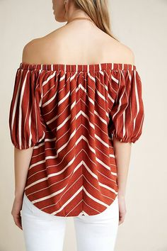 Elodie Off-The-Shoulder Top Off Shoulder Blouse, Off The Shoulder, Anthropologie Clothing, Pullover, Sleeves, Clothes, Shopping, Tops, Women