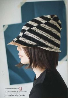 interesting hat shape (JapanLovelyCrafts)