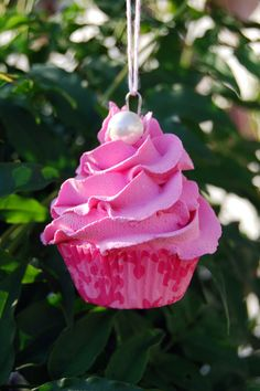 Exclusive PINK SATURDAY Faux Cupcake Ornament Limited Edition