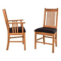 Vermont Woods Studios American Mission Chair -- sustainable furniture made in the USA Mission Chair, Mission Furniture, Furniture Care, Fine Furniture, Furniture Making, Side Chairs, Dining Chairs, Dining Room, Walnut Chair