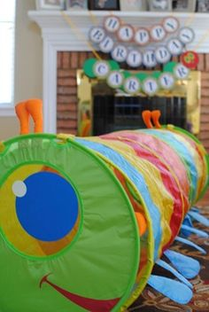 Caterpillar tunnel at Very Hungry Caterpillar birthday party