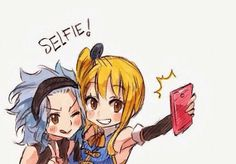 Levy and Lucy ~ Selfie Time :p {Fairy Tail}