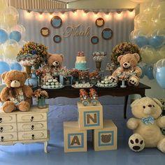 Haz que la celebración de bautizo de tu niño sea un día especial con esta idea para decorar. #bautizo #decoracion