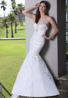 💟$391.98 from http://www.www.extralace.com 💕💕DaVinci Bridal 50238💕💕https://www.extralace.com/fit-n-flare/4041-davinci-bridal-50238.html   #bridalgown #mywedding #weddingdress #bridal #davinci #wedding