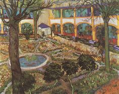 "Vincent Van Gogh ""The Asylum Garden at Arles"""
