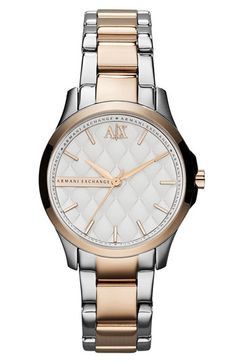 AX Armani Exchange Quilted Dial Bracelet Watch, 36mm (Online Only)   Nordstrom