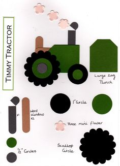 Lavenderstamper: Timmy tractor Punch art for boys