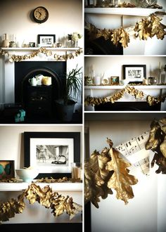 This DIY Painted Leaf Garland is perfect from Autumn to Winter!