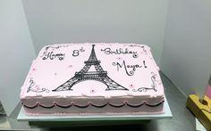 Creative Image of Paris Birthday Cakes . Paris Birthday Cakes Paris Themed Birthday Sheet Cakes Hot Trending Now Paris Birthday Cakes, Paris Themed Cakes, Birthday Sheet Cakes, Paris Birthday Parties, Paris Cakes, Themed Birthday Cakes, Paris Party, Eiffel Tower Cake, Birthday Cake Pictures