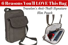 6 Reasons to Love the Travelon Anti-Theft Signature Slim Pouch - #herpackinglist