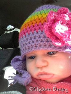 Cats-Rockin-Crochet, Free Crochet and Knit Patterns: Quick Crochet 3 to 6 month old Baby Beanie