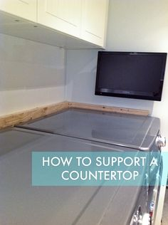 Rambling Renovators: How To Support A Countertop