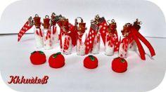 fioles et petites pommes, pour de futurs sautoirs et paire de BO