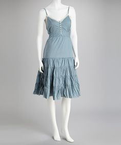 Take a look at this Blue Ruffle Tier Dress by Raj Imports on @zulily today!