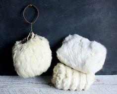 Victorian Muffs | Three Vintage Girls' Fur Muffs, Victorian Antique Winter Accessories