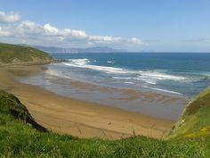 Beach of Sopela, near Bilbao.
