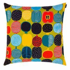 Marimekko Kompotti Pistachio Throw Pillow - Click to enlarge