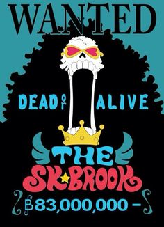 Skull Brook world tour One Piece One Piece Chopper, Zoro One Piece, One Piece 1, One Piece Manga, One Piece Bounties, Brooks One Piece, Otaku, One Piece Drawing, One Piece World