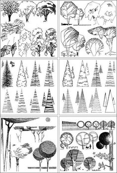 Love Drawing and Design? Finding A Career In Architecture - Drawing On Demand Poster Architecture, Architecture Drawings, Landscape Architecture, Architecture Portfolio, Architecture Student, Landscape Sketch, Landscape Drawings, Landscape Design, Tree Sketches