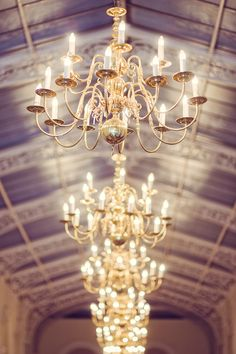 Chandeliers in the Orangery at Blenheim Palace