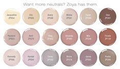 Love Naturel?! Here are some similar Zoya Nail Polish colors to enjoy! Find them at Zoya.com I have Minka and Avery already :)