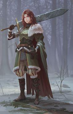 Human female ranger fighter paladin