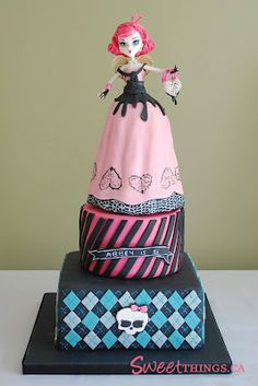 Cake Wrecks - Home - Sunday Sweets: All Dolled Up Sweets dolly varden monster high doll cake Tortas Monster High, Monster High Cakes, Monster High Party, Monster High Dolls, Monster High Birthday Cake, Birthday Cakes, Girl Birthday, Birthday Ideas, Birthday Parties