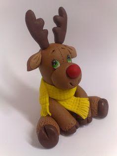 #fondant #reindeer #rudolf #cookie #sugargum #sekerhamuru #figur #figurleme