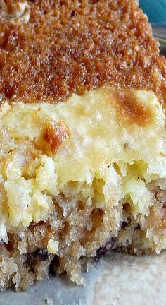 Vanilla and  Apple Gooey Cake
