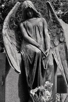 Angel watching over us Cemetery Angels, Cemetery Statues, Cemetery Art, Angel Statues, Statue Tattoo, Angels Among Us, Angels And Demons, I Believe In Angels, Angel Pictures