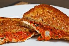 Grilled Goat Cheese and Roasted Red Pepper Pesto Sandwich | Community Post: Top 100 BuzzFeed Recipes I Want To Try