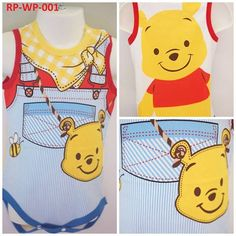 WINNIE THE POOH ROMPER AT $10.90 EACH  Material: 100% cotton  Sizes available: 1. Size 80 (0 to 6 months) 2. Size 90 (6 to 9 months) 3. Size 95 (9 to 12 months)  To order, drop us an email at everything.kiddyland@gmail.com with the product code, quantity, size, recipient name and delivery address.   #Kids #children #kidsfashion