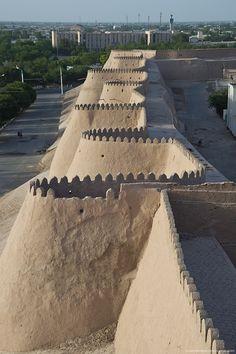 Khiva, Uzbekistan #uzbekistan #wall