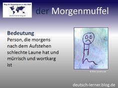 Deutsch lernen - Die schönsten deutschen Wörter: der Morgenmuffel