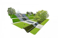 buro-sant-and-co-landscaping-rooftop park-Rotterdam-design water-treading