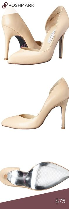 """Chinese Laundry Kristin Cavallari Copertina Pump Chinese Laundry Kristin Cavallari Women's Leather Copertina Pump, Nude, Size 10  100% Leather Imported Synthetic sole Heel measures approximately 4"""" Pointed-toe d'Orsay dress pump featuring suede upper and wrapped heel Chinese Laundry Shoes Heels"""