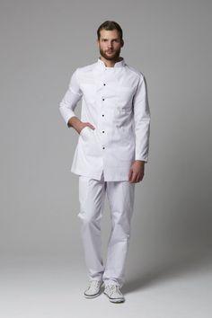 Healthcare Uniforms, Medical Uniforms, Restaurant Uniforms, Scrubs Uniform, White Shirt Men, Lab Coats, Uniform Design, Apron Designs, Mens Fashion