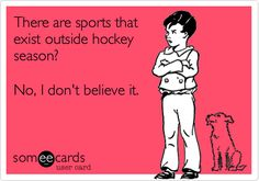 There are sports that exist outside hockey season? No, I don't believe it.