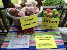 Pet adoption booth