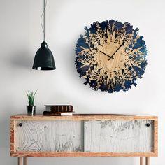 : Designer Svetlana Mikhailova's Botanica clock shows the time with intricate natural shapes cut fro Big Wall Clocks, Clock Wall, Wall Décor, Natural Shapes, Organic Shapes, Large Clock, Home Decor Furniture, Furniture Design, Craft Ideas