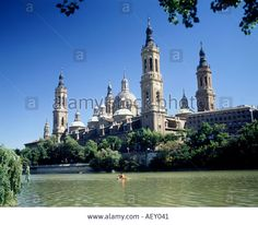 Basilica De Nuestra Senora Del Pilar Zaragoza Spain Stock Photo ...