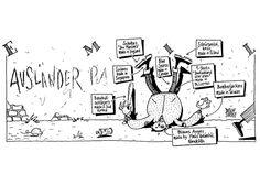 """""""Ausländer rauuuu....!"""" / """"Foreigners ouuuu....!"""" @ Detlef Surrey http://surrey.de/galerien/bilder-galerie/kategorie/emil-comic-strips-1988-91"""