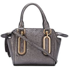 See By Chloé mini 'Paige' crossbody bag ($398) ❤ liked on Polyvore featuring bags, handbags, shoulder bags, grey, leather shoulder handbags, leather handbags, mini crossbody purse, leather crossbody handbags and leather shoulder bag